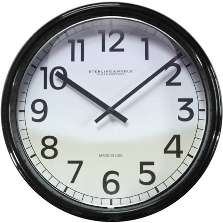 Mainstays 11 5 Quot Black Framed Wall Clock Walmart Com