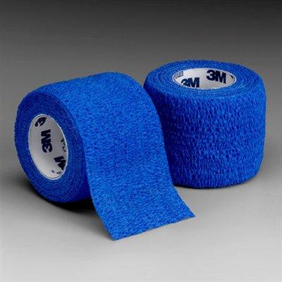 "Coban Self-Adherent Wrap Bandage, Compression Bandage, 3"" x 5 Yards, Blue, 3M 1583B - Pack of 24 ..."
