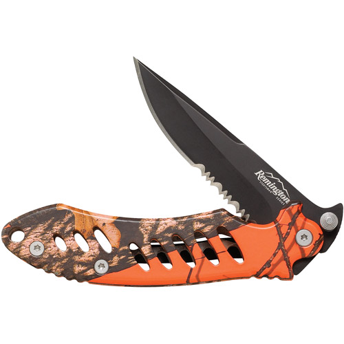 Remington Sportsman Series Large F.A.S.T. Folder, Mossy Oak Blaze Camo/Black Oxidized