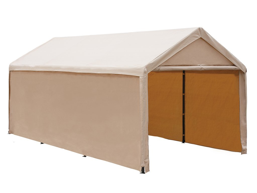 Abba Patio 10 x 20-Ft Heavy Duty Beige Carport, Car Canopy Versatile Shelter with Sidewalls by Abba Patio
