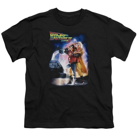 Back To The Future II Science Fiction Movie Poster Big Boys T-Shirt Tee](Back To The Future 2 Shoes Halloween)