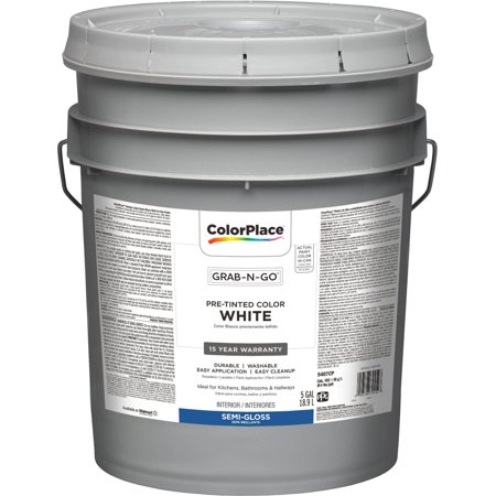 colorplace grab n go white semi gloss interior paint 5 gallon. Black Bedroom Furniture Sets. Home Design Ideas