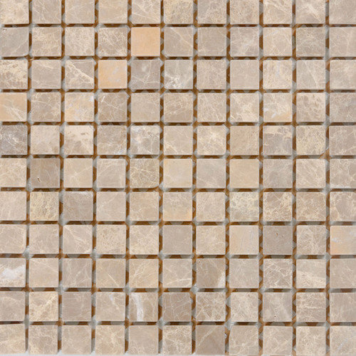 Epoch Architectural Surfaces 1'' x 1'' Marble Mosaic Tile in Emperador Light