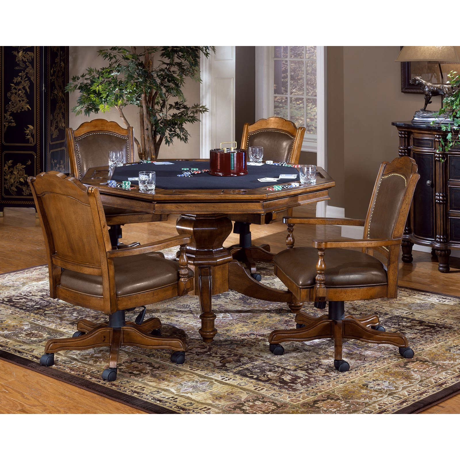 Hillsdale Nassau 5 Piece Game Table Set by Hillsdale
