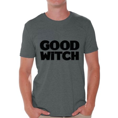 Awkward Styles Good Witch Shirt Halloween Witch Tshirt Funny Halloween Shirts for Men Dia de los Muertos T Shirt Halloween Themed Holiday Shirts Day of the Dead Gifts for Him Trick or Treat Gifts - Halloween Theme Days Work