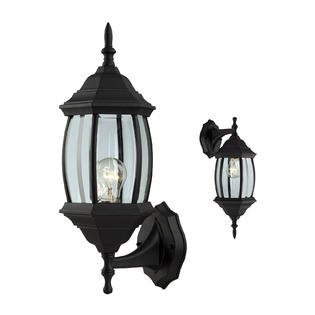 Outdoor Exterior Wall Light Fixture Lantern Porch Patio Downlight/Uplight, Black