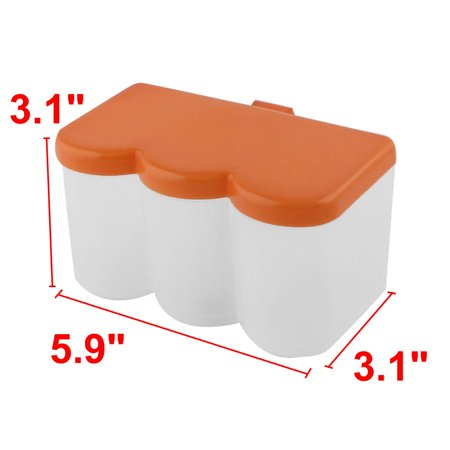 Kitchen Plastic Spices Container Box Condiment Dispenser Holder Orange 2pcs - image 2 of 3