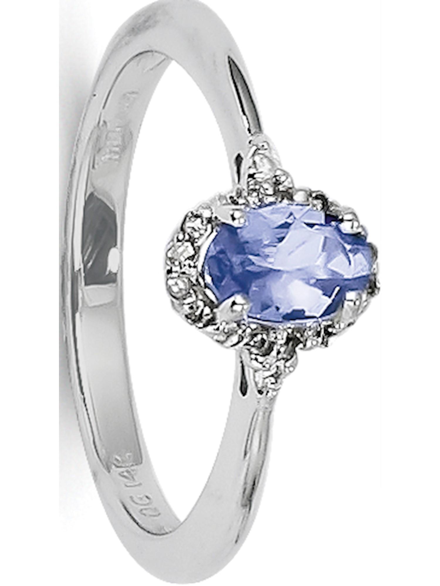 14k White Gold White Tanzanite and Diamond Ring by