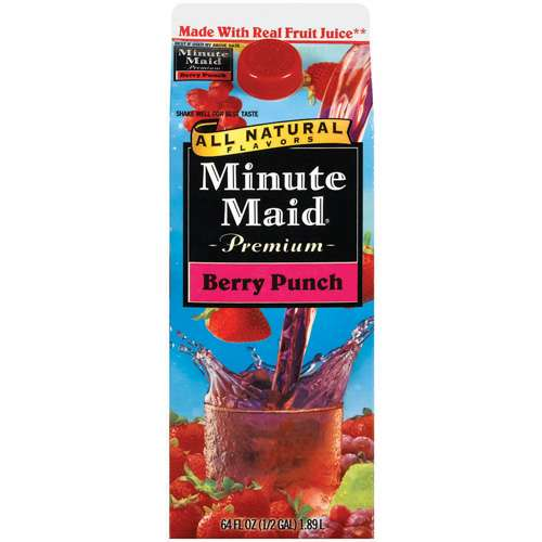 Minute Maid Premium: All Natural Flavors Berry Punch, 64 oz