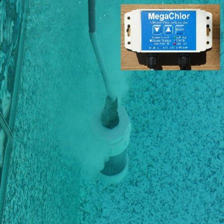 Chlorinator MegachlorDO Salt Water Pool And Swim Spa Chlorine Generator - Drape