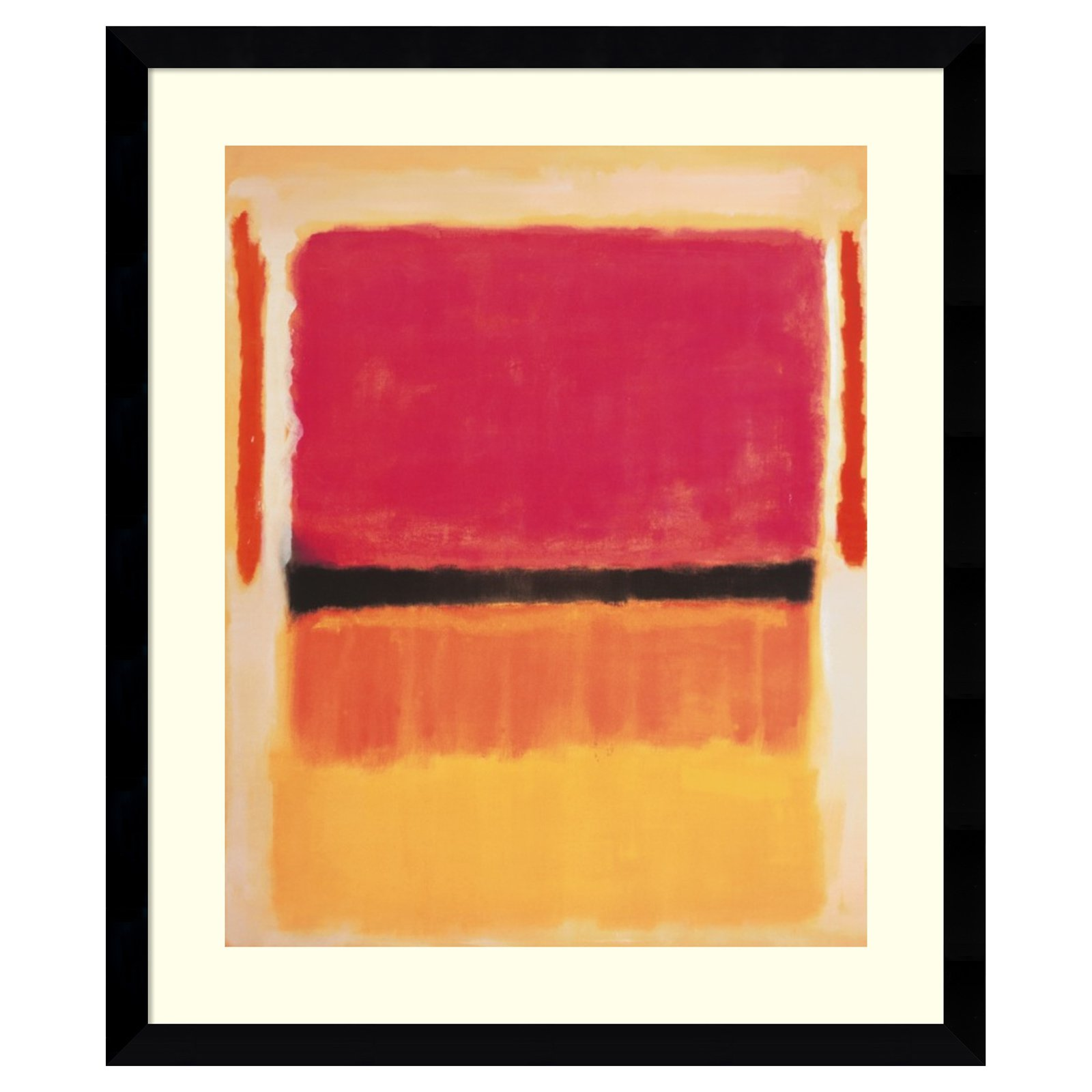 Amanti Art Framed Print - Untitled 1949 by Mark Rothko