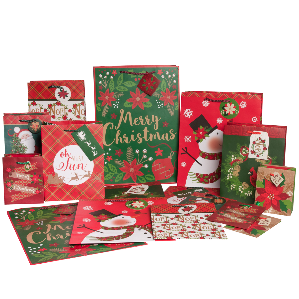 Holiday Paper Craft Gift Bags, 16ct
