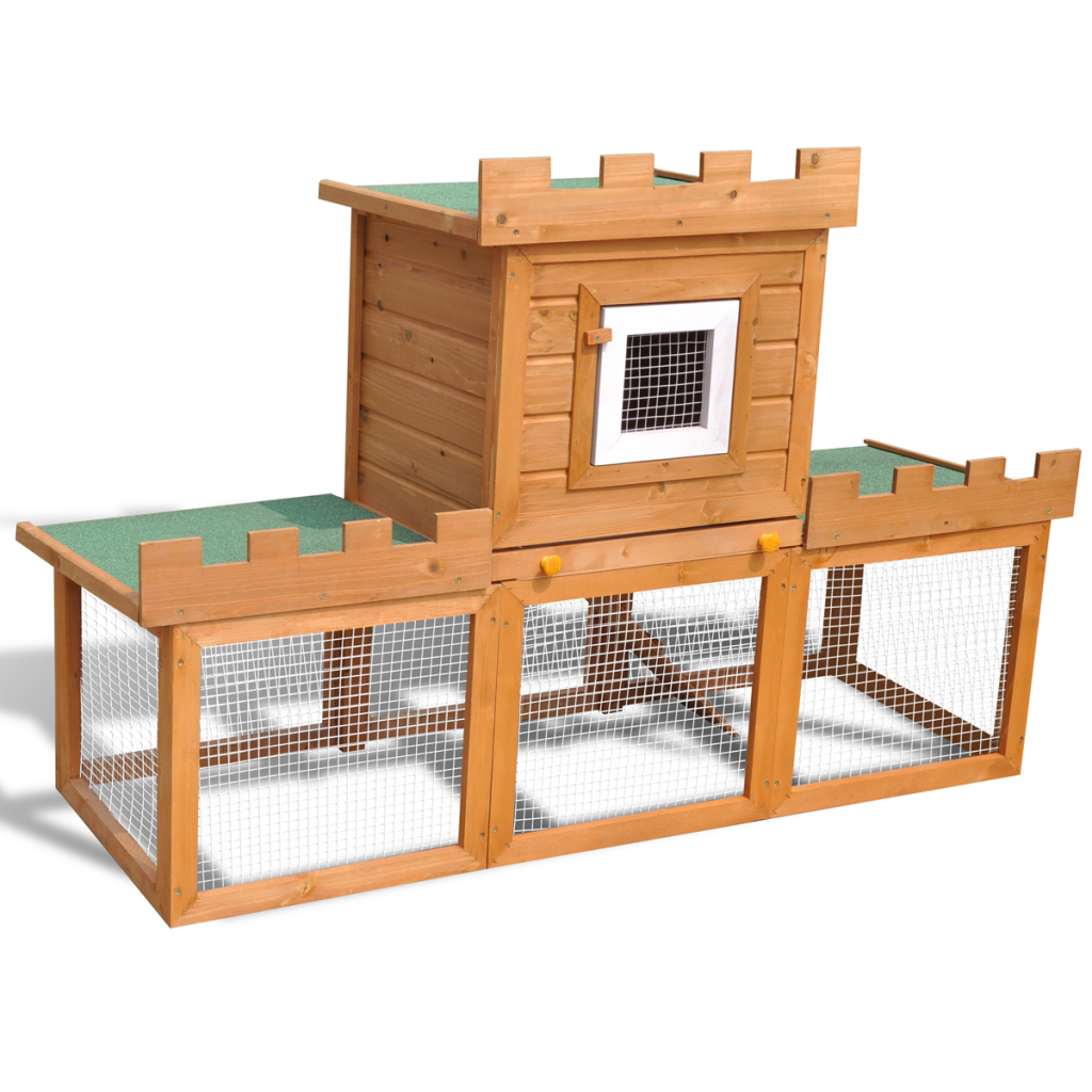 Anself Outdoor Large Rabbit Hutch House Pet Cage Single House by