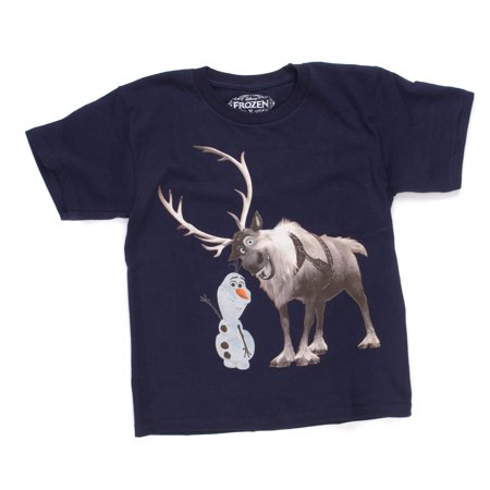 Disney Frozen Best Buds Mens Navy Blue T-Shirt | M](Disney Mens Shirts)
