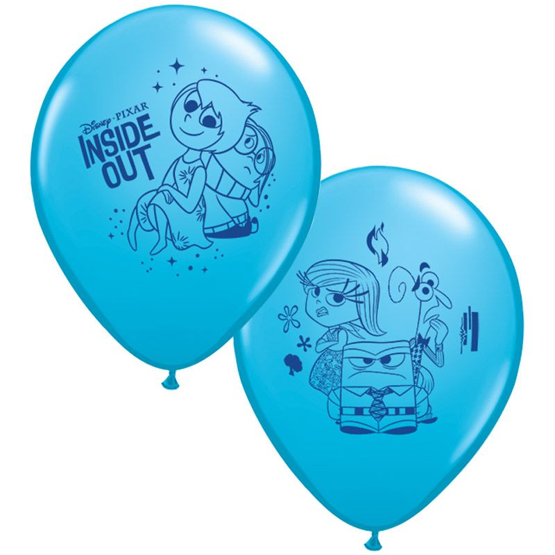 "Disney Inside Out 12"" Latex Balloons (6 Pack) - Party Supplies"