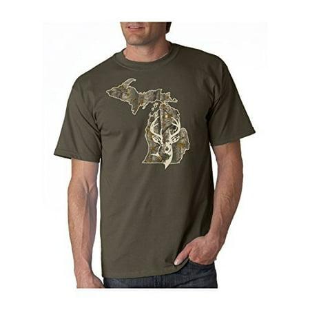 J2 Sport Michigan Deer Head Camo Unisex T-Shirt