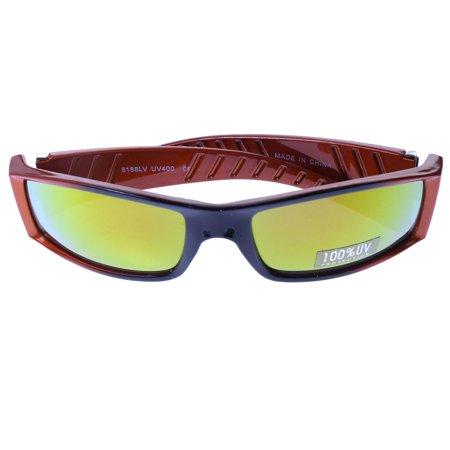 Mi Amore UV protection Las Vegas logo Sport-Sunglasses Orange & (Designer Sunglasses Las Vegas)