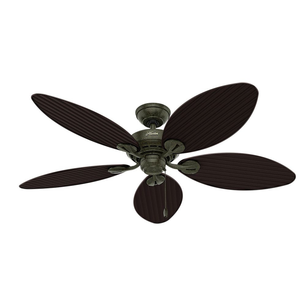 "Hunter Fan 54"" Bayview 5-Blade, Provincial Gold, 54098"