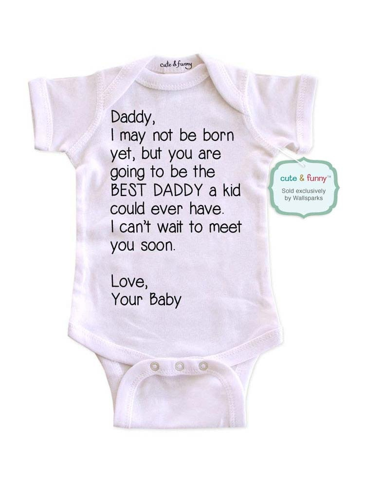 White Baby Grow-Pregnancy Announcement-You/'re Going To Be A Daddy-Baby Vest
