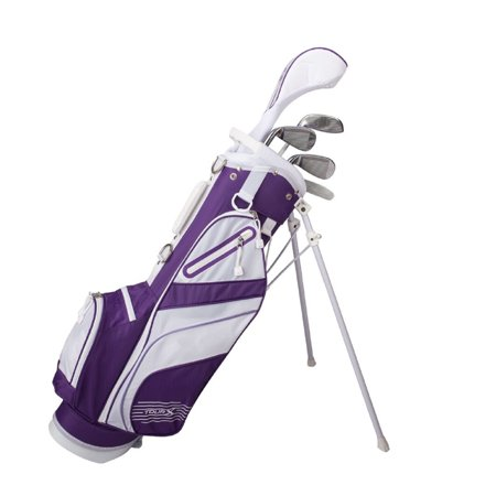 Tour X Size 2 Purple 5pc Jr Golf Set w/Stand Bag (Tour Edge Golf Club Set)
