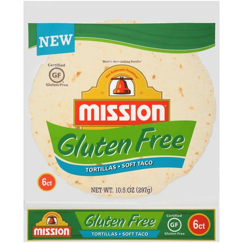 "Mission Gluten Free 8"" Soft Taco Tortillas, 6 ct"