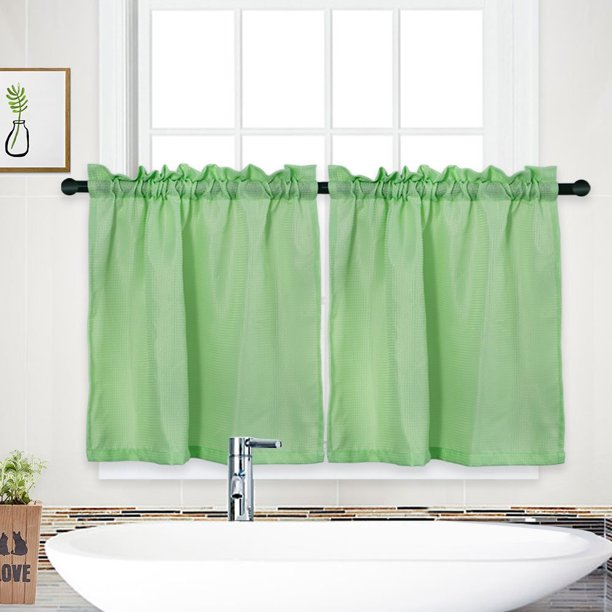 Rod Pocket Half Window Covering Curtain