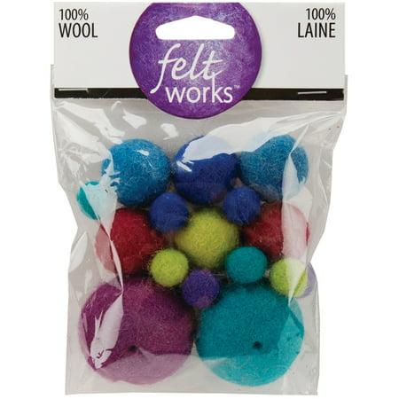 Feltworks Ball Assortment-Cool 16/Pkg - image 1 de 1