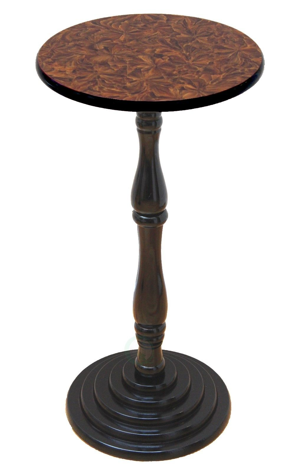 "Click here to buy ""Round Pedestal Accent Side End Table, Espresso"" by Quickway Imports Inc."