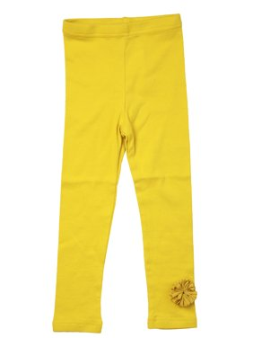 Richie House Girls' Stretch Pants with Ruffle Accent RH0135