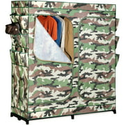 "Honey Can Do 60"" 2-Door Storage Closet with Shoe Organizer, Camouflage"