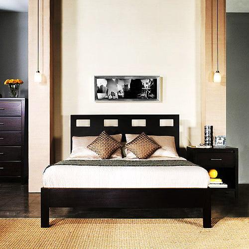 Riva King-Size Platform Bed, Espresso