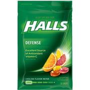 Halls Defense Vitamin C Supplement Drops, Assorted Citrus, 30 Ct