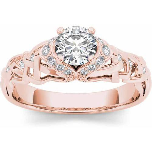 Imperial 1 2 Carat T.W. Diamond Classic 14kt Rose Gold Engagement Ring by Imperial Jewels