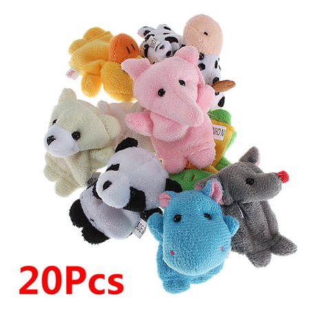 20 Animals Set Velvet Cute Animal Finger Puppets Dolls Props Toys for Children, - Scary Puppets For Sale