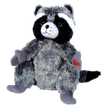 merrymakers the kissing hand chester raccoon plush doll, 9-inch