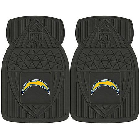 San Diego Chargers Vinyl - NFL 2-Piece Heavy-Duty Vinyl Car Mat Set, San Diego Chargers