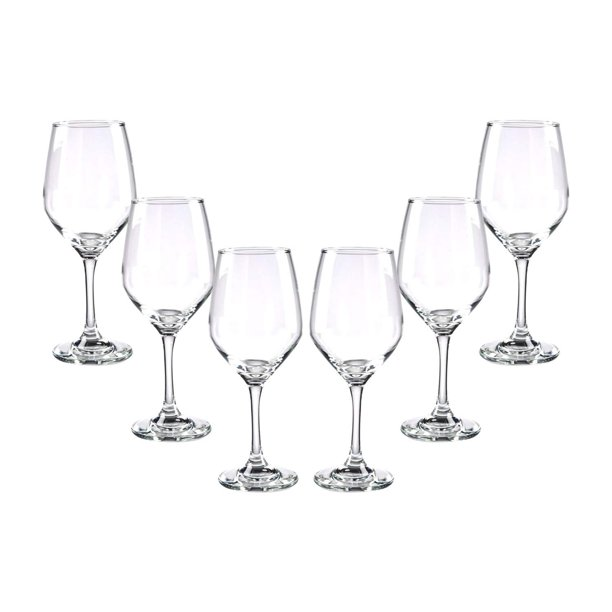 Brunello Stemmed Wine Glasses Set 12 75 Oz Modern Crystal Clear Goblets Glassware Set 6 Walmart Com Walmart Com