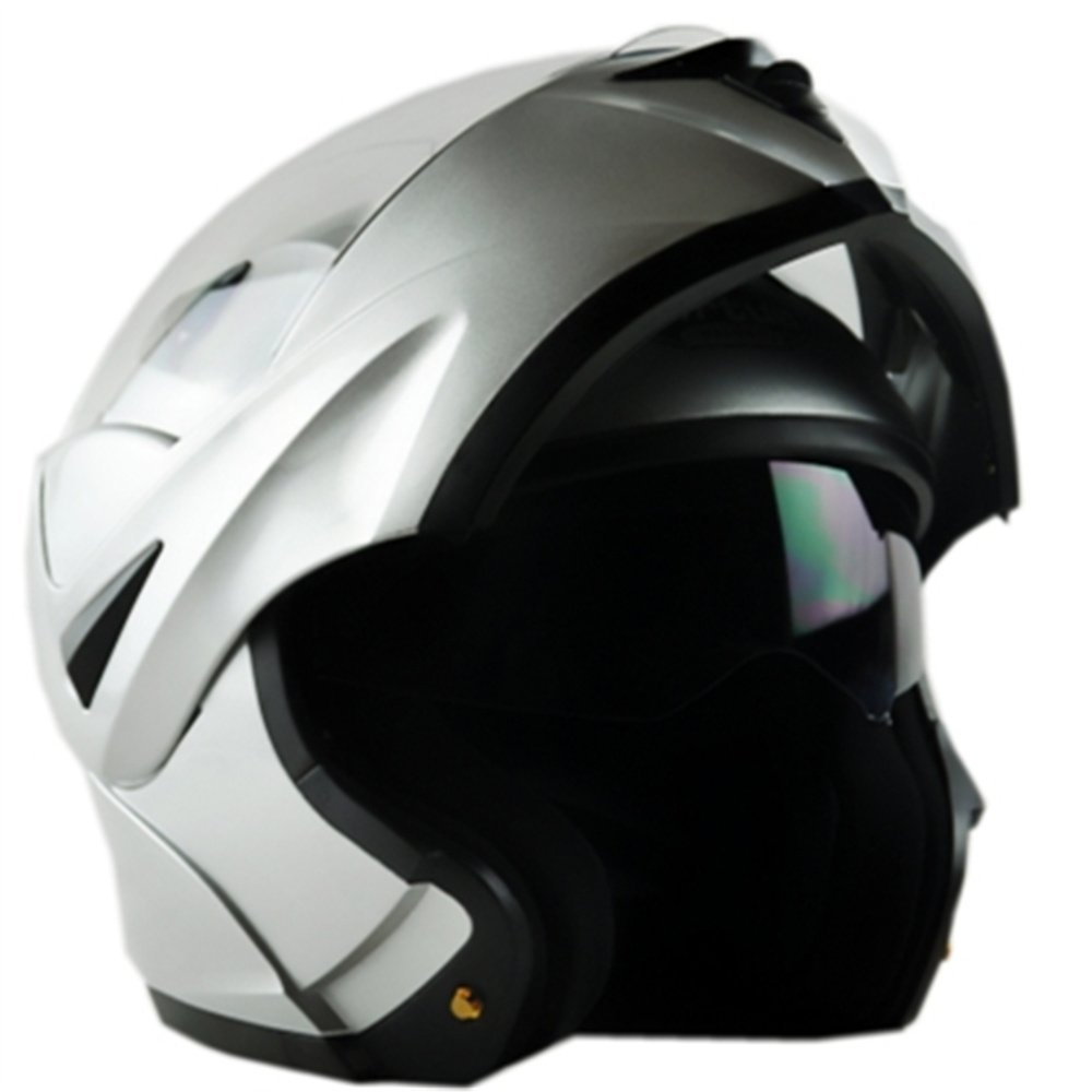 ILM Motorcycle Flip up Modular Full Face Helmet Dual Visor DOT Approved 8 Colors Available