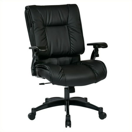 Office Star 93 Series Eco Leather Office Conference Room Chair in Black Eco Leather Conference Chair