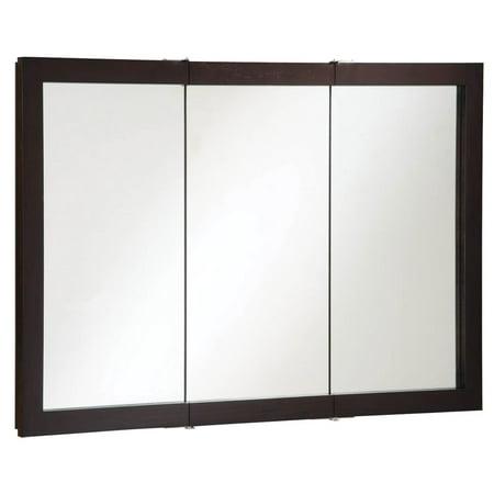 """Design House 541367 Ventura Tri-View Medicine Cabinet Mirror 48"""", Espresso"""