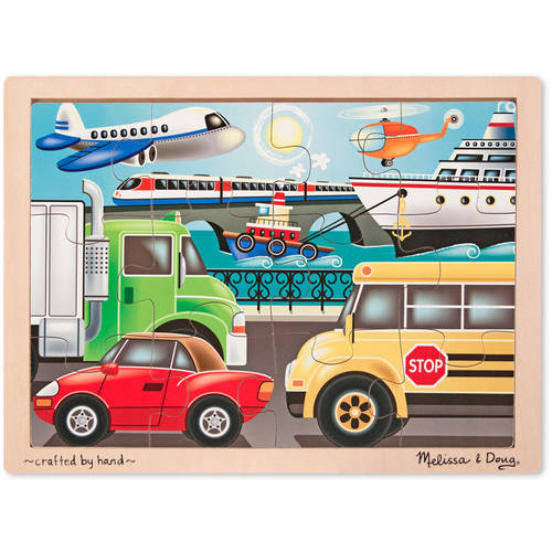 Melissa & Doug On the Go, Vehicles) Jigsaw, 12pc