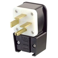 Leviton 8462-P 60 Amp, 250 Volt- 3PY, Straight Blade, Plug, Industrial Grade, Grounding, Angle, Black