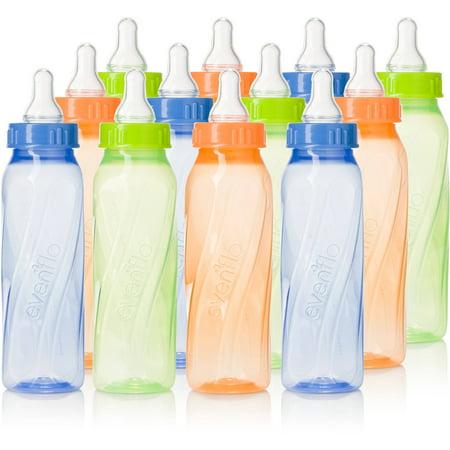 Evenflo Classic Twist 8Oz Bottle  Tinted  Unisex  12 Pack  Bpa Free