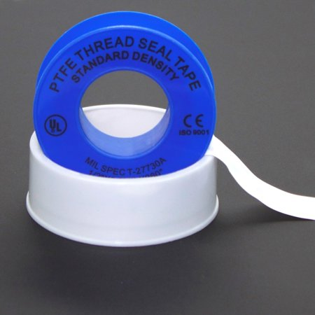WOD PTFE-35S Plumbers Pipe Teflon Thread Seal Tape - 1/2 inch x 260 inch (Case of 100 Rolls) - Leak Proof Sealant for Water, Gas, Oil, Most Chemicals, Hydraulic and High Pressure Lines