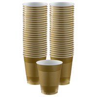 Gold Big Party Pack 16 oz. Plastic Cups (50)