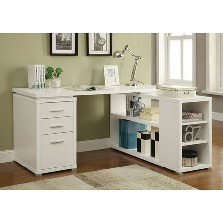 Coaster Yvette Collection L-Shaped Reversible Desk, Multiple Colors 72' Contemporary L-shaped Desk