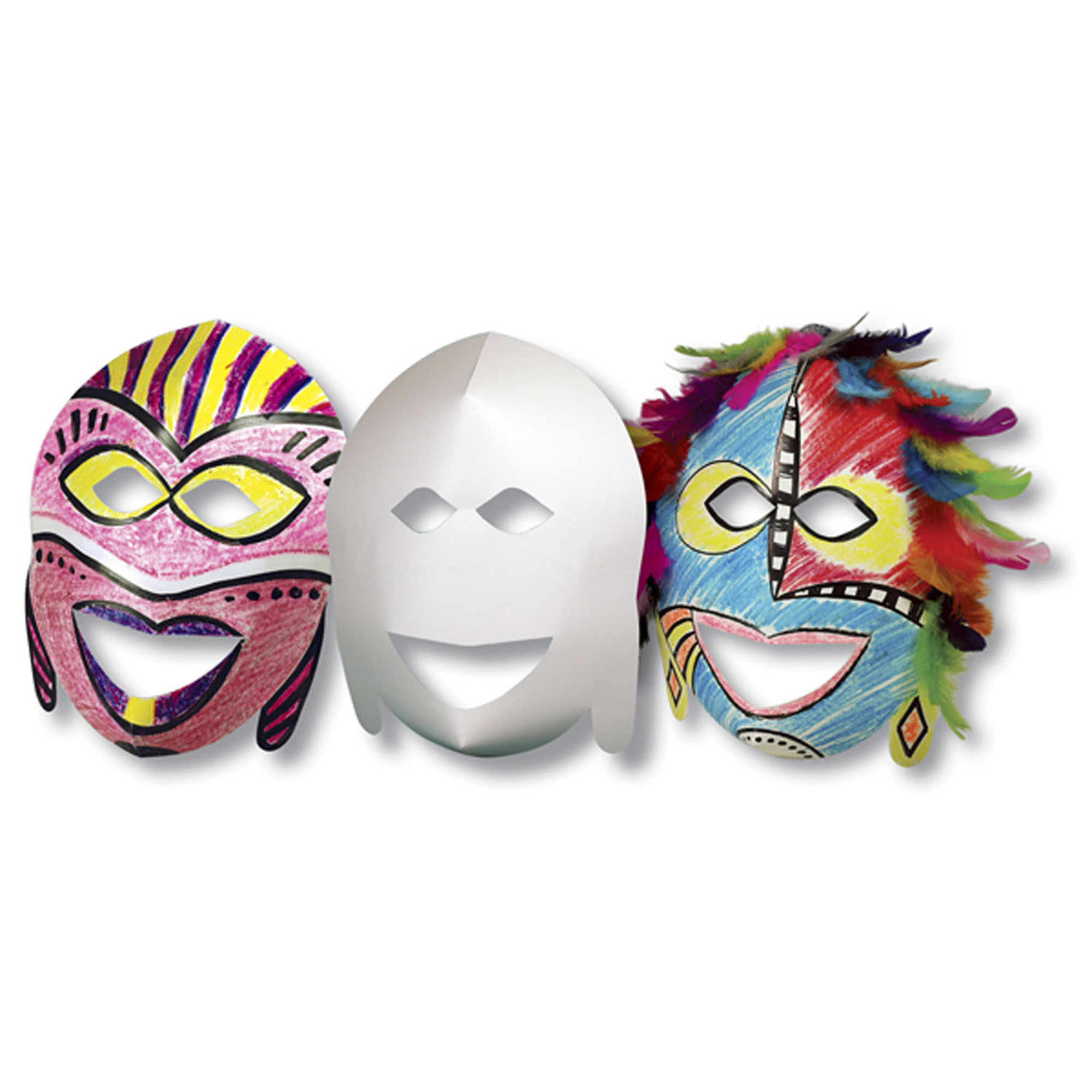 Roylco® African Masks, 20 per pack, Set of 3 packs