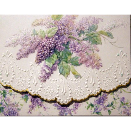 Carol's Rose Garden Summer Lilacs Blank 10 Card Set Portfolio, 10 embossed blank cards with matching envelopes By Carol Wilson Fine