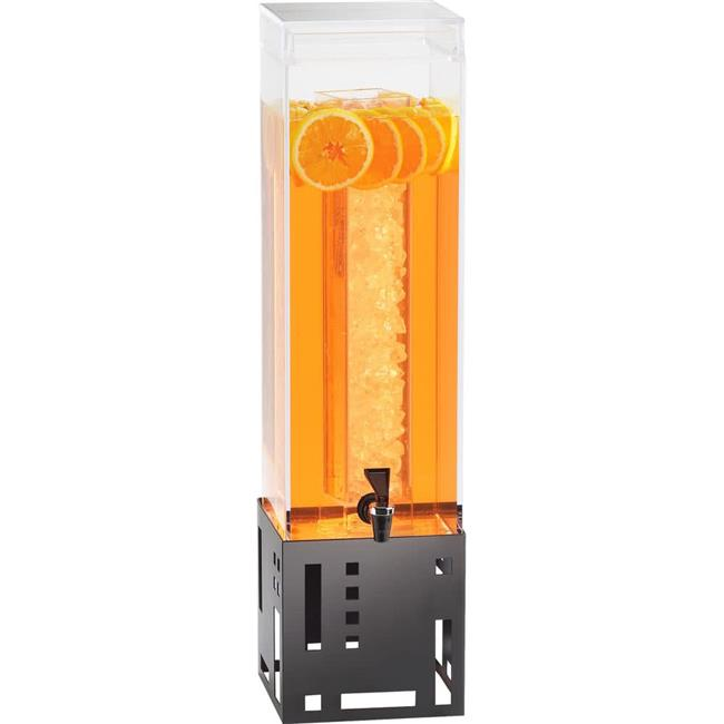 Cal Mil 1602-3-13 3 gal Black Beverage Dispenser with Ice Chamber - 7.375 x 9.375 x 25.75 in. - image 1 of 1