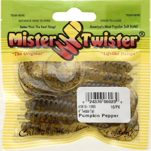 Mister Twister Twister Tail, Pumpkin Pepper, 4-Inch Multi-Colored